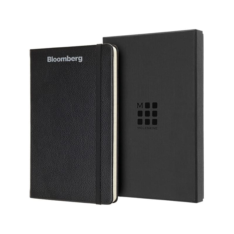 Moleskine® Leather Ruled Large Notebook