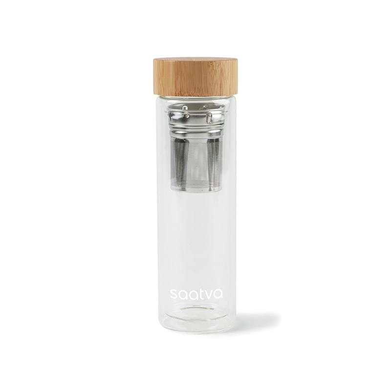 Eden Double Wall Bamboo Glass Bottle - 13.5 Oz.