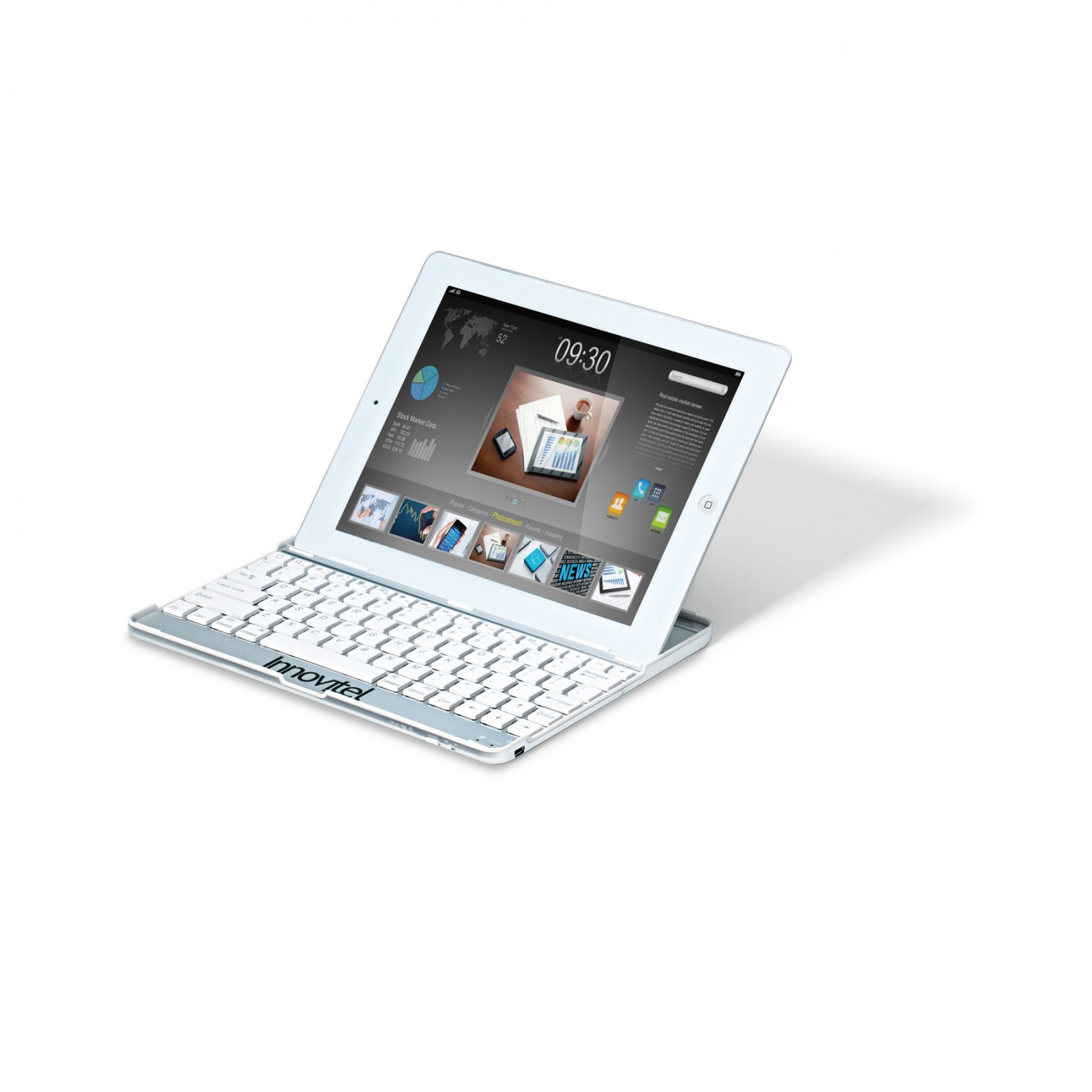 Bluetooth Keyboard Snap On iPad Case