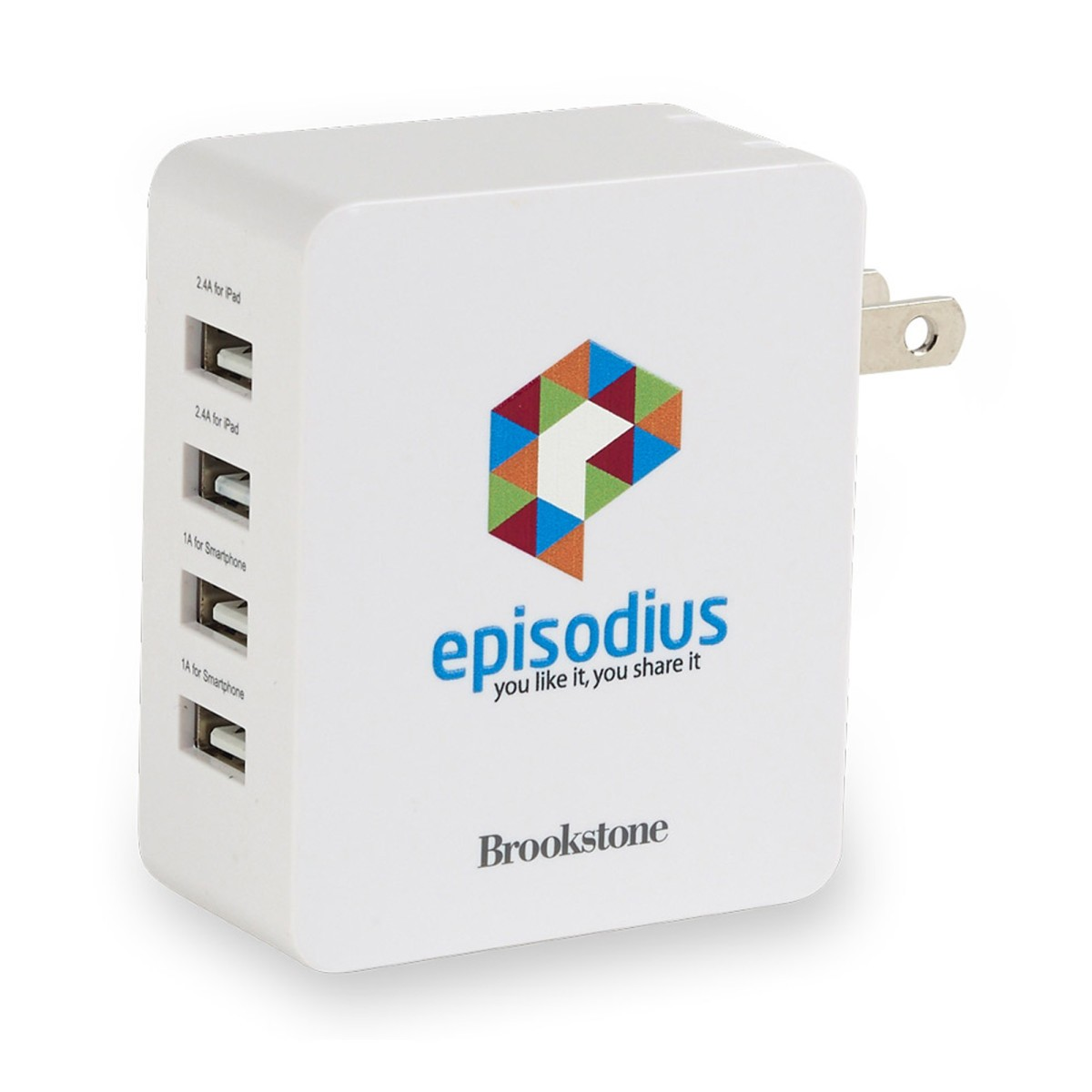 Brookstone 4-Port USB Wall Charger II
