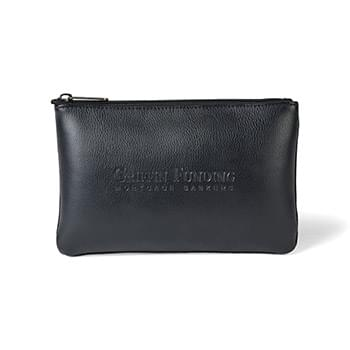 Travis & Wells™ Leather Zippered Pouch
