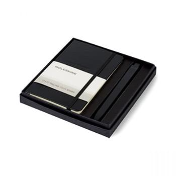 Moleskine® Pocket Notebook and GO Pen Gift Set