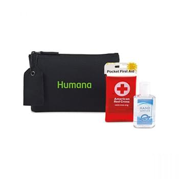 American Red Cross Pocket First Aid and Hand Sanitizer Bundle