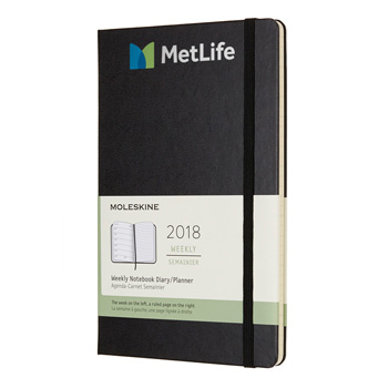 Moleskine® Hardcover Large 12-Month Weekly 2018 Planner