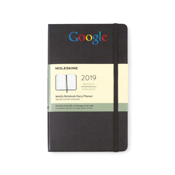 Moleskine Hardcover Large 12-Month Weekly 2019 Planner