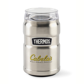 Thermos® Stainless King™ Dual Purpose Can Insulator with 360° Drink Lid - 10 Oz.
