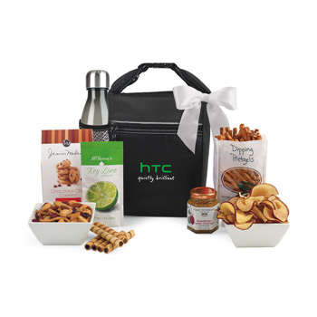 Spirited Gourmet Lunch Break Cooler with Geyser Bottle Gift Set
