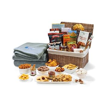 Gourmet Delights Keepsake Basket with Brookstone® Throw