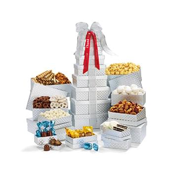 Ultimate Shimmering Sweets & Snacks Gourmet Tower