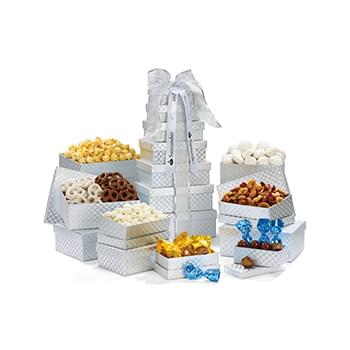 Deluxe Shimmering Sweet & Snacks Gourmet Tower