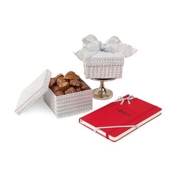 Moleskine® Notebook & Sparkling Almond Butter Toffee Gift Box